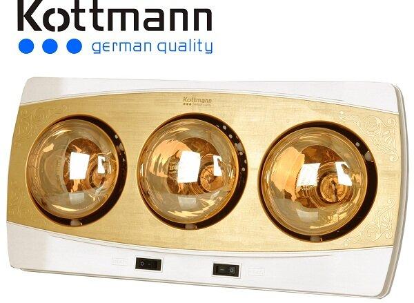 Đèn sưởi nhà tắm kottmann 3 bóng vàng new 2015