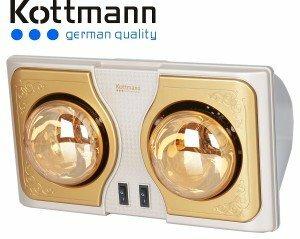Đèn sưởi nhà tắm kottmann 2 bóng vàng new 2015
